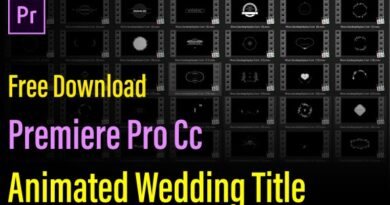 Premiere Pro Mogrt Free Download | Animated Wedding Title Template