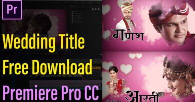 Adobe Premiere Pro Wedding Templates (Projects) & Effects Free Download